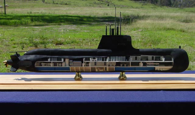 COLLINS Class Submarine Cut-away